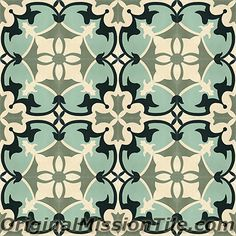 Handmade Sofia Design cement tile by Original Mission Tile - all cement tiles can be customized to create your own according to your project's specs.