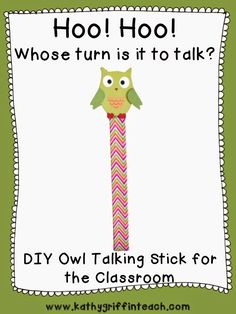 Make a talking stick for your classroom.