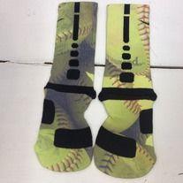 "Products · Custom Nike Elite Socks ""Softball"" · Sock Insanity's Store Admin SOOOOO WANT!!"