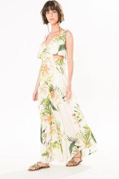 vestido longo bossa fresca