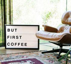Interior Inspiration / But First Coffee retro sign. www.bxxlght.com