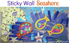 Toddler Approved!: Sticky Wall Seashore {July BabbaBox Activities & Giveaway}- CLOSED