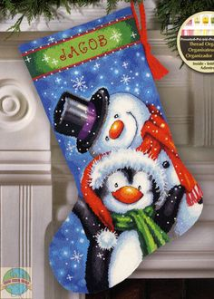 Dimensions - Polar Pals Stocking - Cross Stitch World
