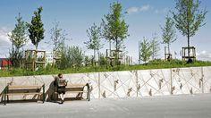 Kockums Park, Malmö, Sweden 2013. Architect: White Arkitekter AB Malmö, Prefabrication: S:t Eriks Kil.