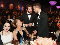 Jake Gyllenhaal made his way over to talk to Ryan Reynolds and Blake Lively.