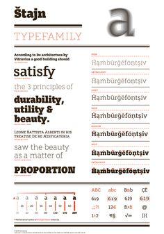 Anže Veršnik, Štajn typeface slab serif font