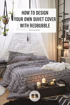 Have the ideal design in mind but can't find it anywhere? Learn how to design a pretty or unique duvet cover perfectly suited to your bedroom and your tastes—because it's made by you! Then, upload your design to Redbubble for free, sell it to others, and print it for yourself, starting from just $85.