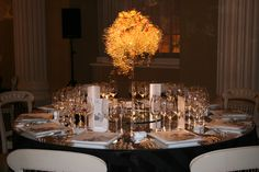 Still luxurious. At Banqueting House in London for the charity Shine Skates, Bespoke, Charity, Minimalism, Table Settings, Chandelier, Wire, Clouds, Ceiling Lights