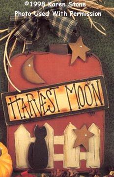 000091 (6) Harvest Moon Pumpkin-harvest, moon, pumpkin, fall, halloweeen, wood kits, wood crafts, wood blanks, tole painting, decorative painting, Karen Stone, the woodshop in wv