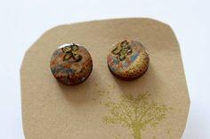 Martinuska / Motýle/wood earrings