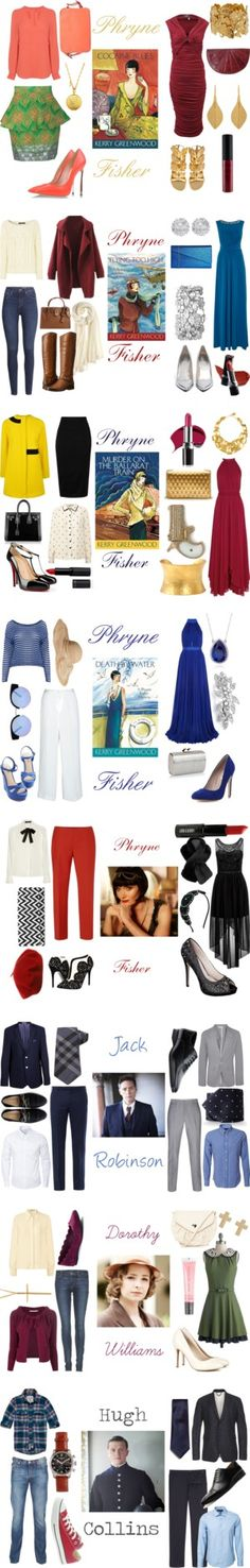 """Miss Fisher Murder Mysteries"" by lilzipop ❤ liked on Polyvore"