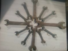 Tweleve Old Vintage Wrenches Assemblage Art by AbandonedTimes