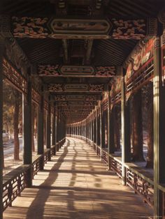 Covered Walkway at Summer Palace in Beijing, China