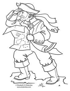 Coloring Page Tuesday! - Pirate 2010
