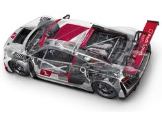 Audi R8 LMS 2015 see through