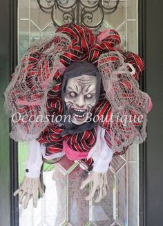 Grim Reaper Wreath, Halloween Wreath, Halloween Decoration, Fall Wreath, Front door wreath, Wreath for door, Ready to ship by OccasionsBoutique on Etsy