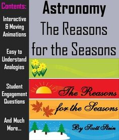 (Pinned for a TpT colleague). This lesson incorporates easy to understand interactive/ animations, easy to understand analogies, and questions which keep students engaged while learning about what are the real reasons for the seasons.