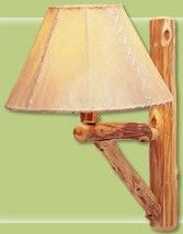 RUSTIC LOG CABIN LIGHTING, RUSTIC CEDAR LAMPS, LOG CABIN LAMPS