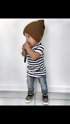 Beau Hudson Striped Vneck T Shirt - Cute Adorable Baby Outfits Cute Baby Boy Outfits, Little Boy Outfits, Toddler Boy Outfits, Toddler Boys, Baby Kids, Cool Baby Boy Clothes, Guy Clothes, Summer Clothes, Toddler Boy Fashion