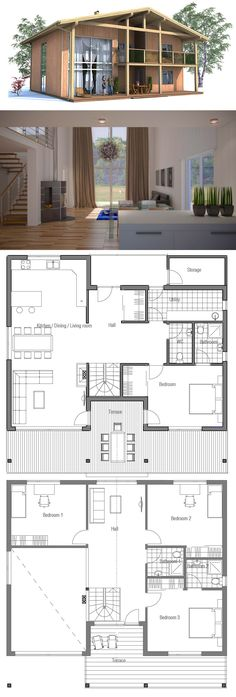 Fine Plan Maison Passive that you must know, You?re in good company if you?re looking for Plan Maison Passive New House Plans, Modern House Plans, Modern House Design, House Floor Plans, Simple Floor Plans, Casas The Sims 4, Home Design Plans, House Layouts, Architecture Plan