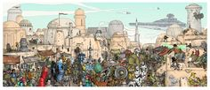 A Nerdy picture puzzle.  Can you find the Doctor, the Tardis, the Wizard of Oz gang, Batman, etc?
