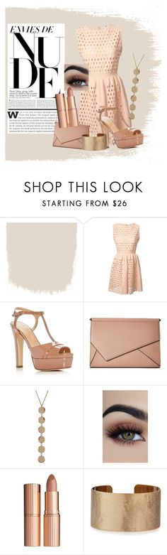 """Nude"" by kaitlyncliffxrd ❤ liked on Polyvore featuring Fendi, Sergio Rossi, Kendall + Kylie, Bony Levy, Charlotte Tilbury, Panacea, nude and nudelip"
