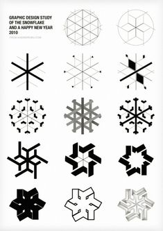 Graphic Design Study of the Snowflake