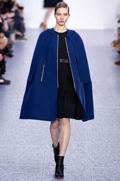 Shopping the Fall Trends: Capes While wearing your blazer as a cape is an option (yes, you, Carey Mulligan), you could just go for the real thing this winter. The cape trend was big last winter, but this season, it's updated with edgy trims and eye-popping colors—like this stunning Chloé design.