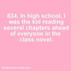 Elementary school, middle school, high school...