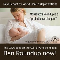 "What will it take for the EPA and USDA to listen to the real science—not the ""fake"" science bought and paid for by Monsanto, which by the way sells $6 billion worth of glyphosate every year? TAKE ACTION! Tell the EPA: Ban Monsanto's Cancer-Causing Roundup Herbicide: http://orgcns.org/1xCIeqP #MonsantoMakesMeSick"