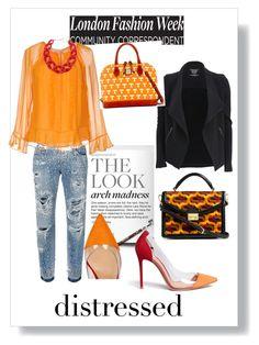 """Red & Orange touch!"" by claudiabueno on Polyvore featuring Dolce&Gabbana, Gianvito Rossi, Majestic Filatures, Diane Von Furstenberg, DIANA BROUSSARD, Vera Bradley and Dooney & Bourke"
