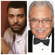 James Earl Jones, b. I love this man! Great actor with a very familar voice! Played in Field of Dreams, one of the greatest Baseball movies ever made! Celebrities Before And After, Celebrities Then And Now, Famous Celebrities, Actors Then And Now, Earl Jones, Adele, Young Old, Yesterday And Today, Lady And Gentlemen