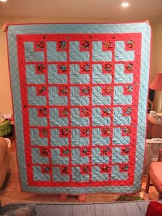 Creative Chicks: In the Corner Quilt.    I think this would also be a great denim quilt pattern