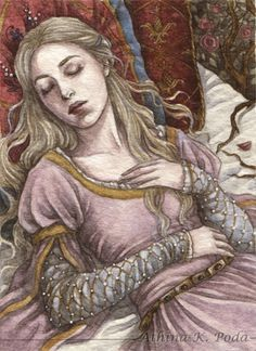 ACEO : Sleeping Beauty II by Achen089.deviantart.com on @deviantART
