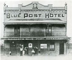 Blue Post Hotel in the 1880s. •Hurstville Council•