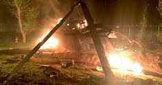 AMC's 'Preacher' Set Photo Teases a Helicopter Crash -- Seth Rogen returns with yet another look at the set of his AMC 'Preacher' Pilot, which shows a downed helicopter at night. -- http://movieweb.com/preacher-tv-show-photo-helicopter-crash/