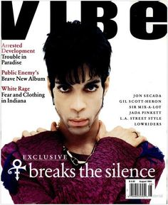 """The Artist Formerly Known as Prince"" (August 1994)....20 Vibe Magazine Covers That Perfectly Define The '90s"
