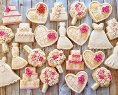 Romantic bridal shower | Little Angel Bakes | Cookie Connection
