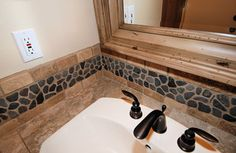 Back splash bathroom idea