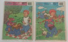 Lot of 2 Vintage 80s Golden My Pet Monster Frame Tray Puzzles, 1986 Puzzle Set