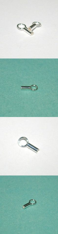 Crimp and End Beads 164354: Lots Sterling Silver 925 1.5Mm Hole Crimp End Caps For Chains, Cords And Leather BUY IT NOW ONLY: $44.0