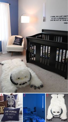 I don't have babies anymore but if sean saw this when my boys were babies, they def would have had a star wars nursery!