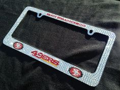 Sparkly Car License Plate Frame Bling 3d Pink Cherry