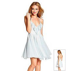 love this - cant wait to wear it at graduation GUESS Sleeveless Striped Julia Light Blue Dress