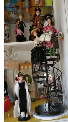 Very cool ...Barbie spiral staircase!