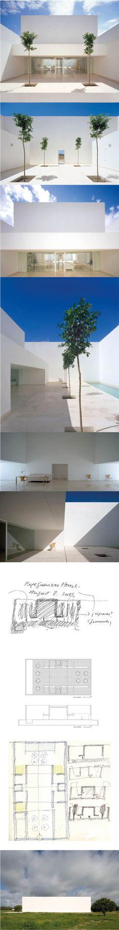 2005 Alberto Campo Baeza - Guerrero House / Vejer Cádiz Spain / concrete / white / minimalism