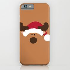 Christmas Reindeer with Santa Claus' hat - Protect your iPhone with a one-piece, impact resistant, flexible plastic hard case featuring an extremely slim profile. Simply snap the case onto your iPhone for solid protection and direct access to all device features.
