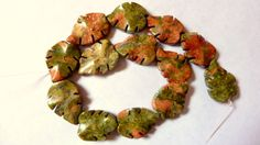 Unakite Leaf shape beads