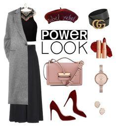 """Power look"" by ksusha-kasatkina on Polyvore featuring мода, Alexander McQueen, Christian Louboutin, Loewe, Gucci, Michael Kors, Victoria Beckham, Kendra Scott, girlpower и powerlook"