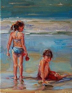 """Beach Buddies""  Oil on Canvas"